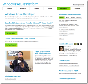 dev.windowsazure.com screenshot