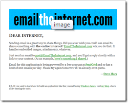 emailtheinternet screenshot