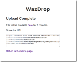 WazDrop screenshot